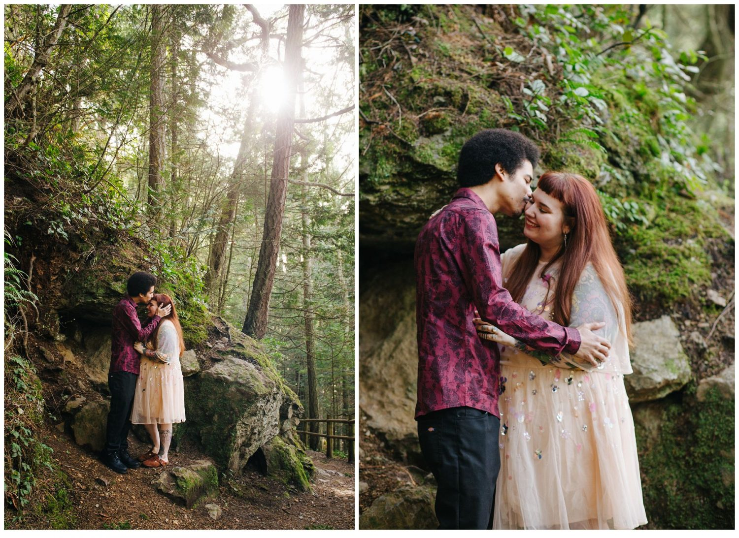 Deception Pass Engagement Session in forest