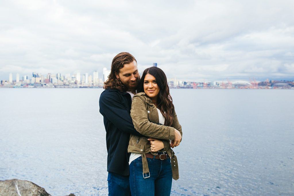 Alki Beach engagement photos in Seattle