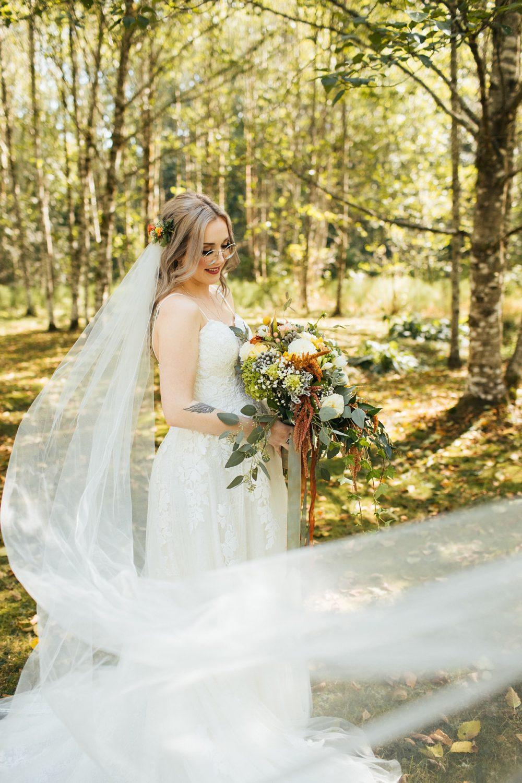 beau lodge wedding portrait of bride