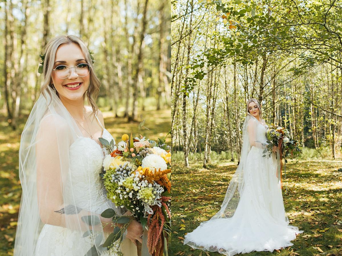 beau lodge wedding bride portraits