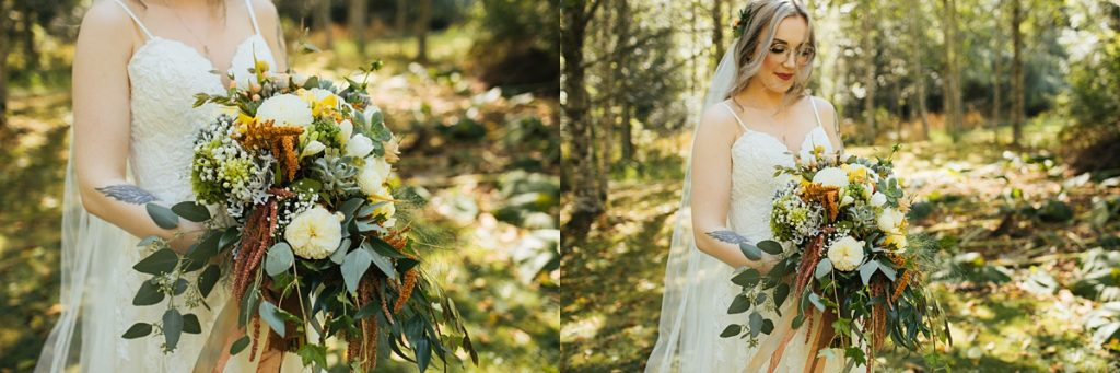 beau lodge wedding details of brides boquet