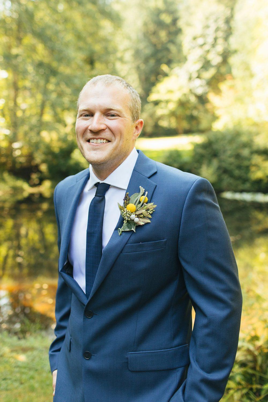 beau lodge wedding groom portrait