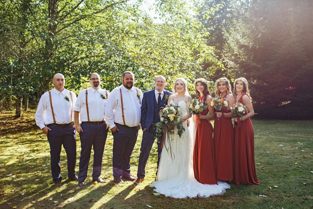 beau lodge wedding wedding party portrait