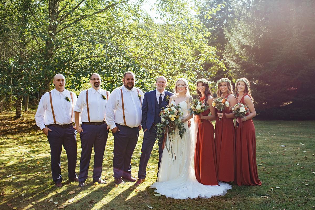 beau lodge wedding wedding party portrait