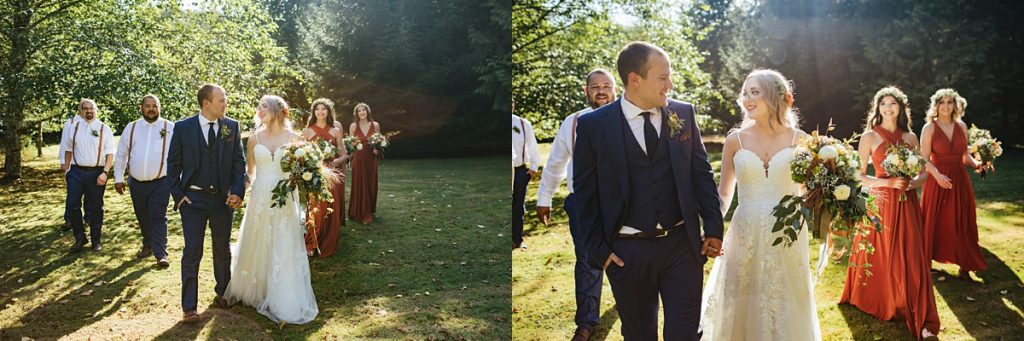 beau lodge wedding bride and groom portraits with wedding party