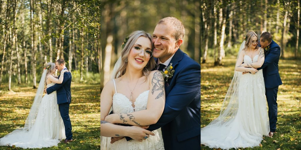beau lodge wedding bride and groom portraits