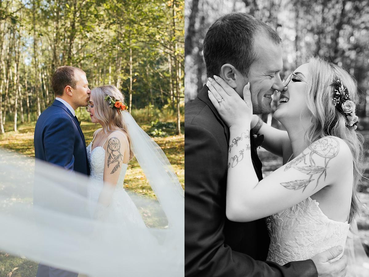 beau lodge wedding bride and groom portraits