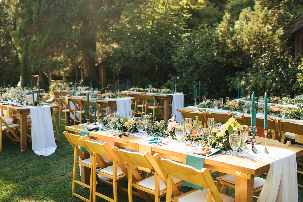 beau lodge wedding reception details