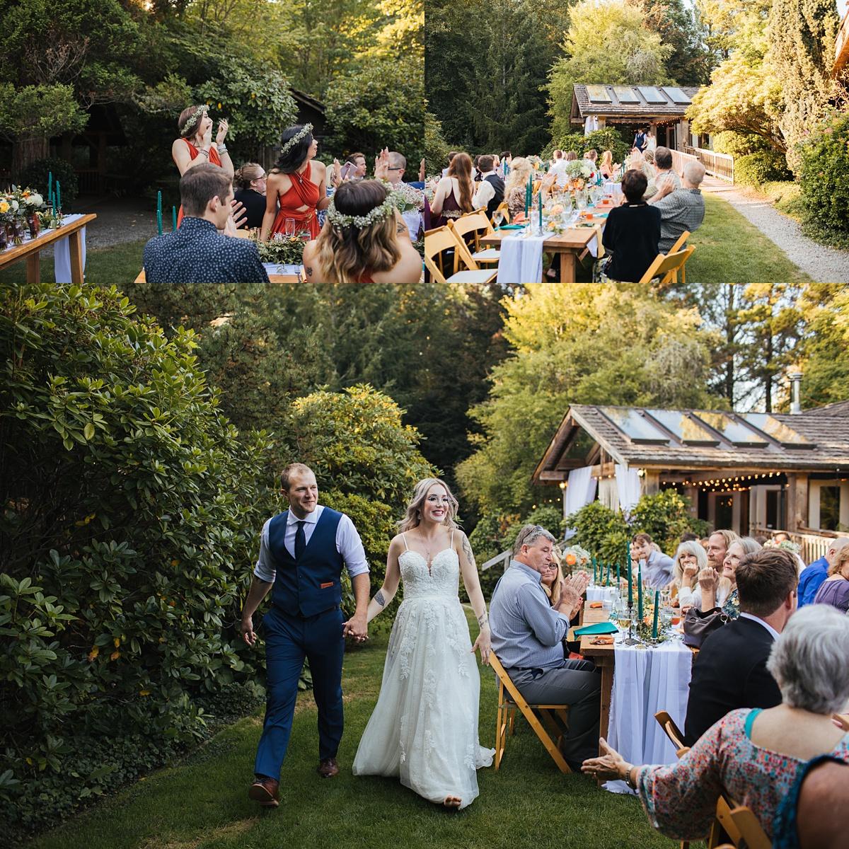 beau lodge wedding bride and groom entrance