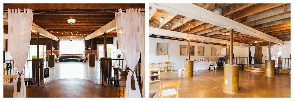 Bostic Lake Ranch Wedding interior of venue details