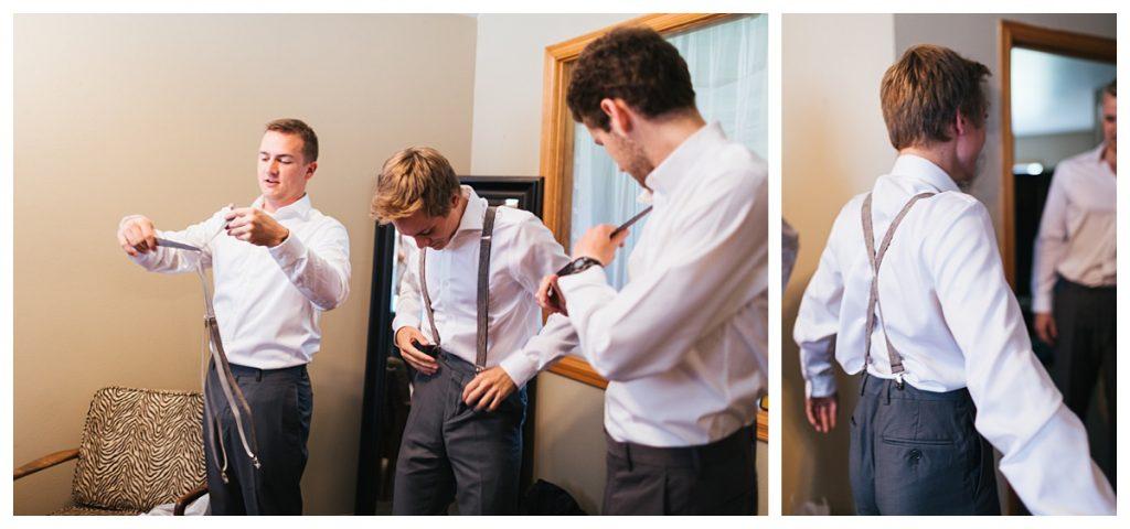 Bostic Lake Ranch Wedding groomsmen getting ready