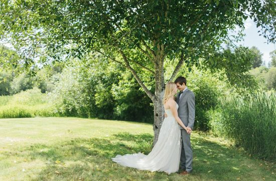 Bostic Lake Ranch Wedding bride and groom portrait