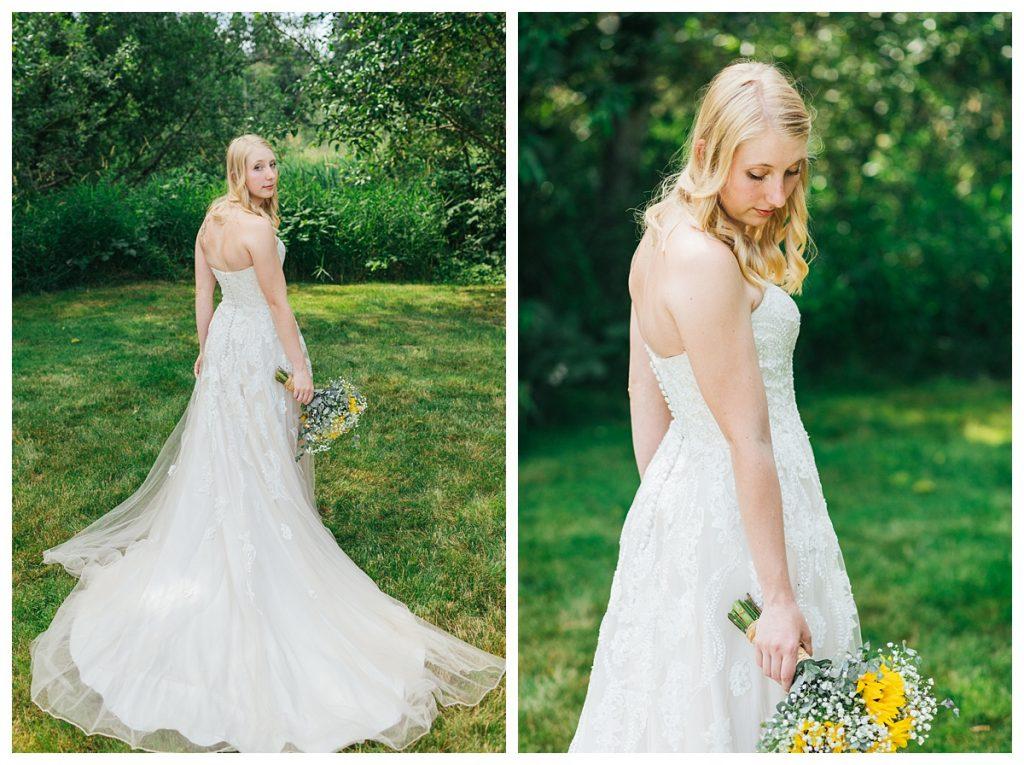 Bostic Lake Ranch Wedding portrait of bride