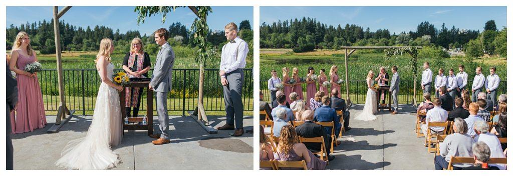 Bostic Lake Ranch Wedding ceremony