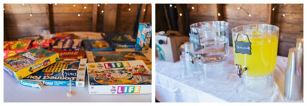 Bostic Lake Ranch Wedding decor