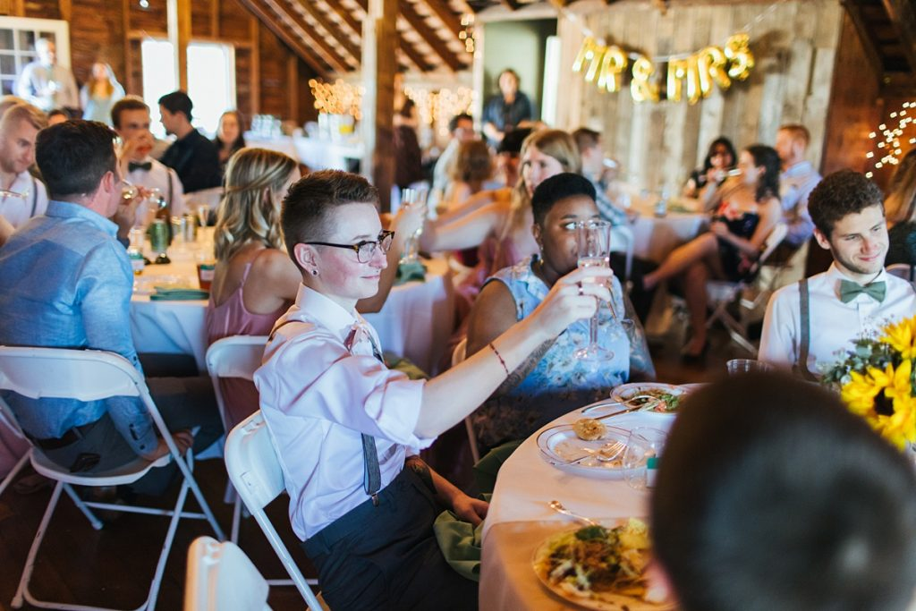 Bostic Lake Ranch Wedding toasts