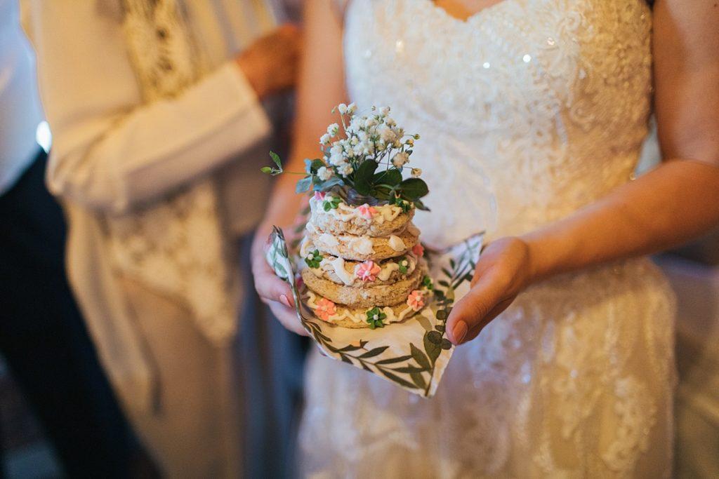 Bostic Lake Ranch Wedding close up of swedish wedding cake