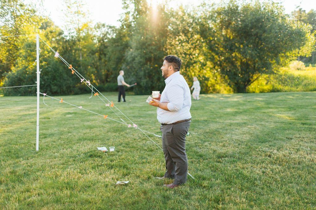 Bostic Lake Ranch Wedding lawn games