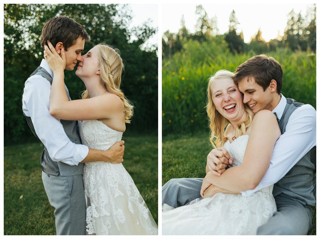 Bostic Lake Ranch Wedding bride and groom portraits