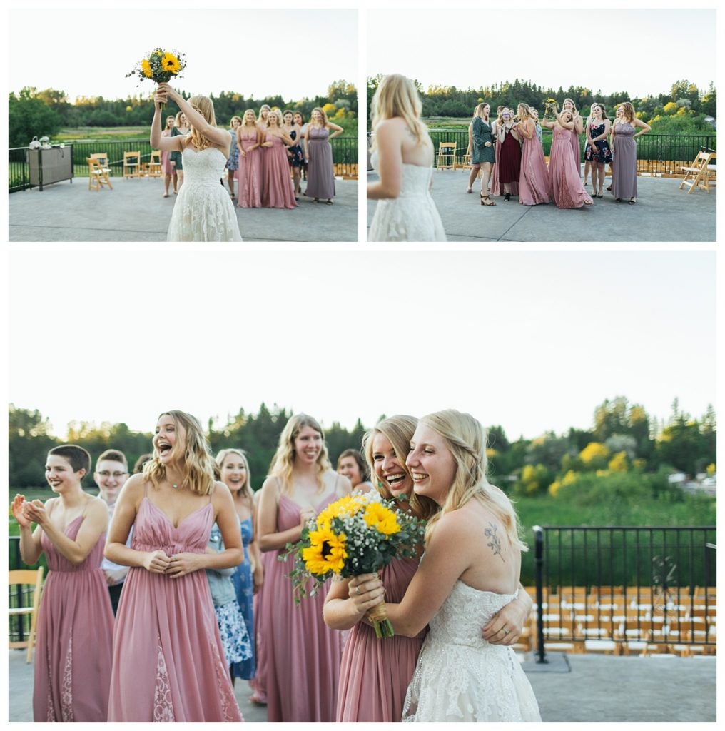 Bostic Lake Ranch bouquet toss