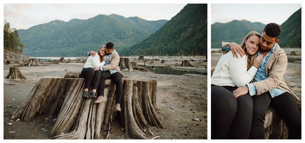 Skokomish Part at Lake Cushman Engagement photos