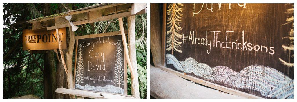 TreeHouse Point Wedding decor details