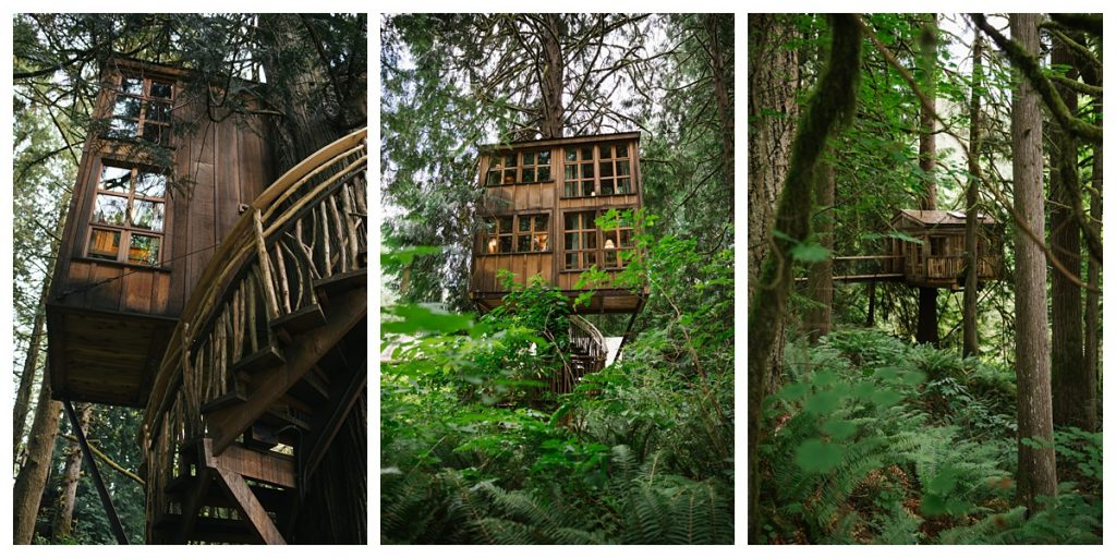 TreeHouse Point Wedding details of tree houses