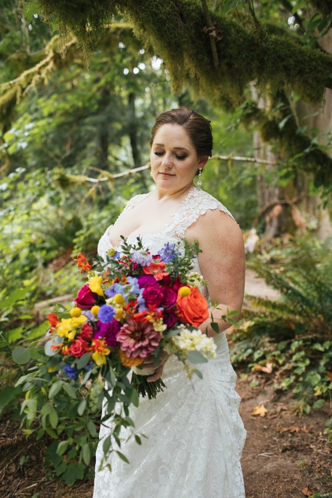 TreeHouse Point Wedding bride portrait