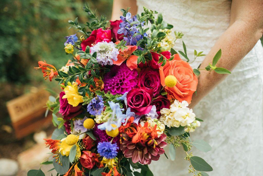 TreeHouse Point Wedding brides bouquet details