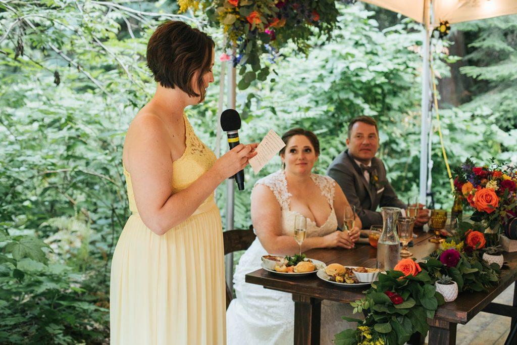 TreeHouse Point Wedding taosts
