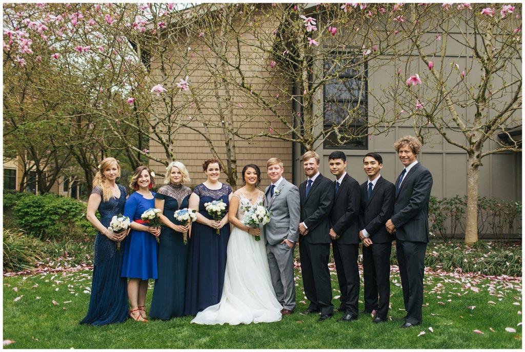 Cedarbrook lodge wedding party