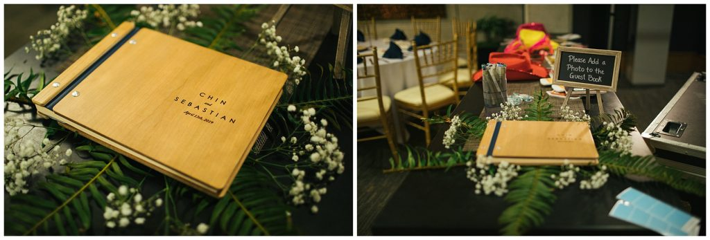 Cedarbrook Lodge Wedding guest book details