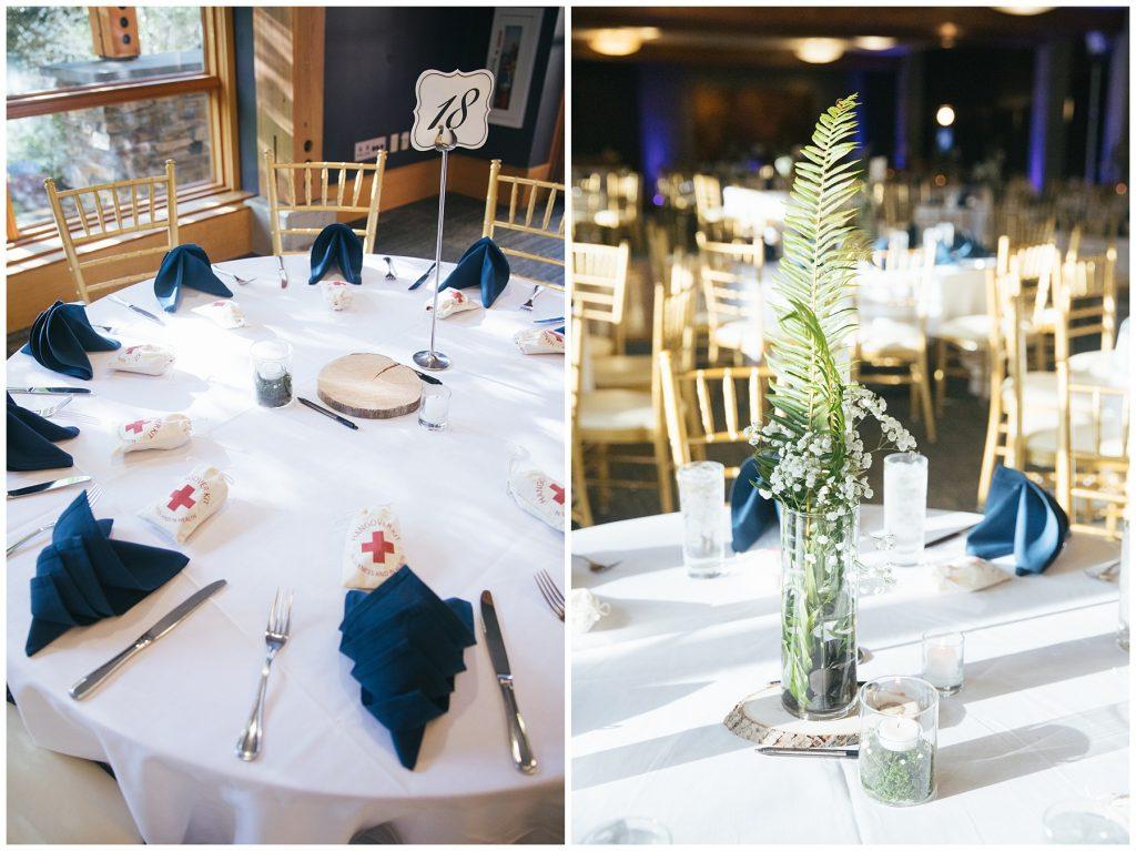Cedarbrook Lodge Wedding reception decor
