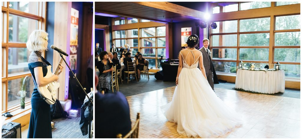 Cedarbrook Lodge Wedding bride and groom first dance