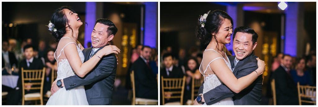 Cedarbrook Lodge Wedding bride dancing with father