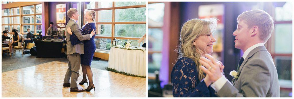 Cedarbrook Lodge Wedding groom dancing with mother