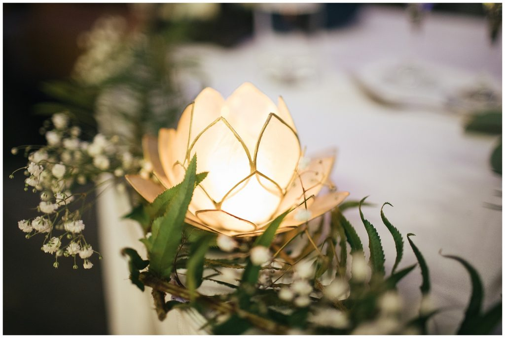Cedarbrook Lodge Wedding reception lights details