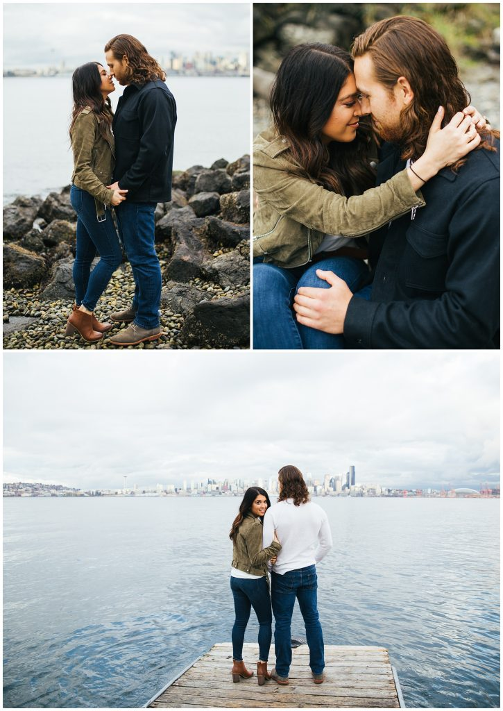 Alki Beach engagement photos