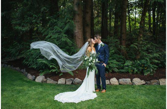 Seattle Backyard Wedding Bridal portraits