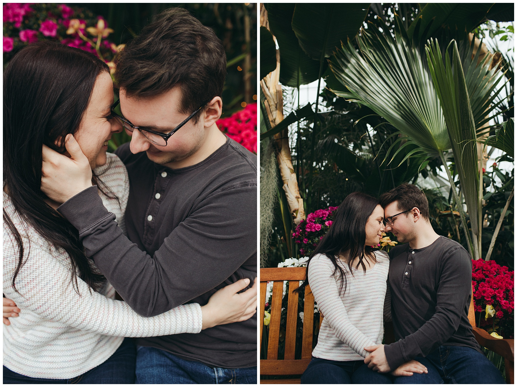 W.W. Seymour Conservatory engagement session